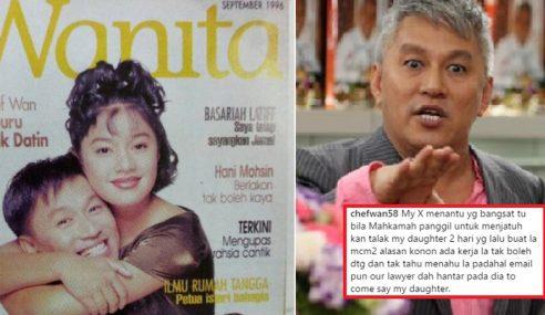 Kasihankan Serina, Chef Wan 'Basuh' Bekas Menantu Di IG