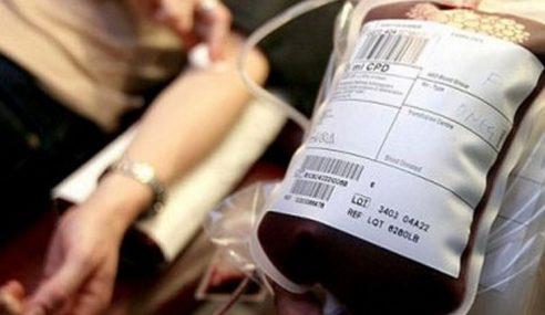 Hospital Melaka Perlu Lebih Bekalan Darah Jenis O