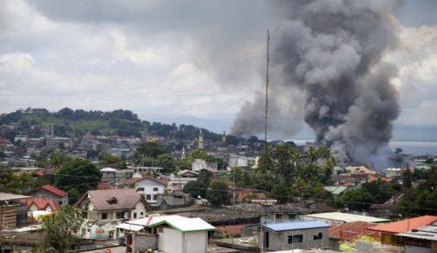 Tentera Filipina Maut Dalam Serangan Udara Marawi