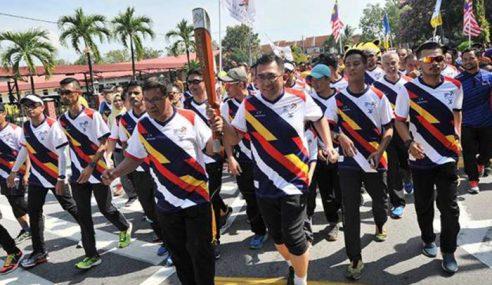Obor Sukan SEA 2017 Tiba Di Dewan Merdeka Parit Buntar