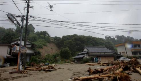 Angka Maut Akibat Hujan Lebat Jepun Meningkat