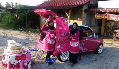 Nasik Lemak 'Pink' Hello Kitty Jadi Tumpuan
