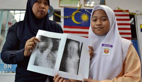 Remaja Perlukan RM25,000, Bedah Tulang Belakang