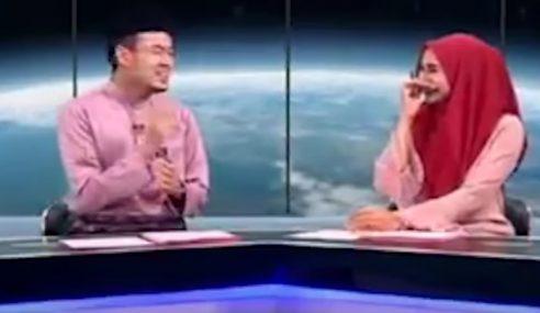 Penyampai Berita TV1 Tak Tahan Tergelak Time Live