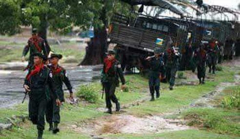 Tentera Myanmar Lancar Serangan Di Utara Rakhine