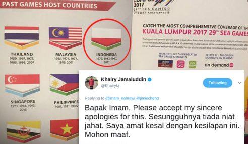 KJ Mohon Maaf Isu Bendera Indonesia Dicetak Terbalik