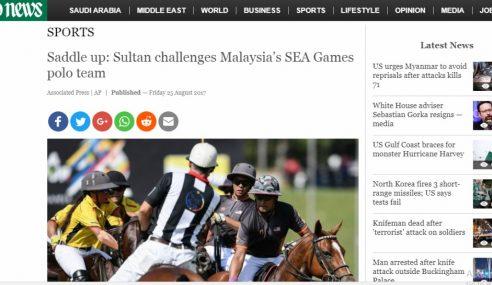 Hebat! Berita Cabaran Sultan Johor Sampai Ke Arab Saudi