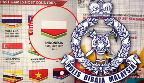 Polis Siasat Isu Bendera Indonesia Terbalik
