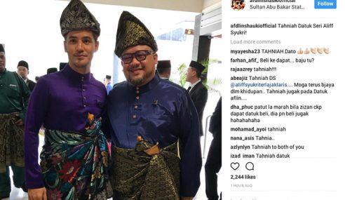 Afdlin Kini Bergelar Datuk, Aliff Syukri Datuk Seri