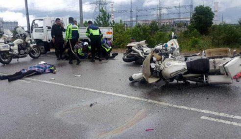 Dua Anggota Polis Trafik Maut Dirempuh Lori