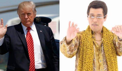Pikotaro Pun Sambut Donald Trump Di Jepun