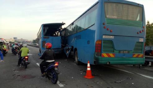 Dua Pemandu Bas Kilang Direman 4 Hari