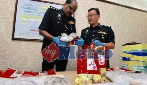 Polis Perak Rampas Syabu Bernilai RM1.2 Juta