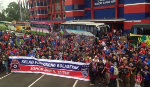 Penyokong JDT Mulakan Perjalanan Ke Shah Alam