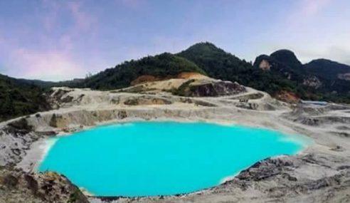 Lombong Air Biru Jadi Viral, Pemilik Tutup Kawasan