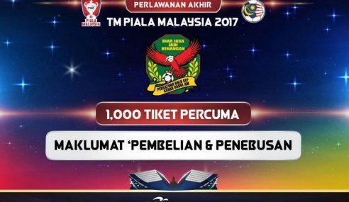 1,000 Tiket Percuma Final Piala Malaysia Untuk Kedah