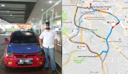 Caj RM160 Untuk Jarak Perjalanan Kurang 10KM