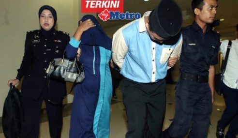 Anak Dirantai Pada Tong Gas: Suami Isteri Didakwa
