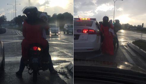 Hati Suci 'Abam Polis' Dapat Pujian Netizen
