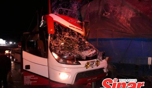 Lima Penumpang, Pemandu Bas Ekspres Cedera