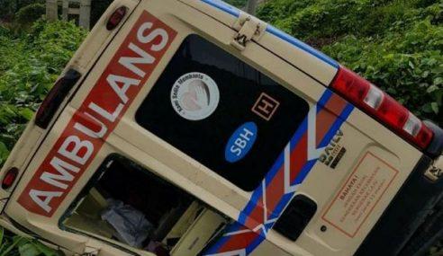 Kakitangan Hospital Semporna Cedera, Ambulans Terbabas