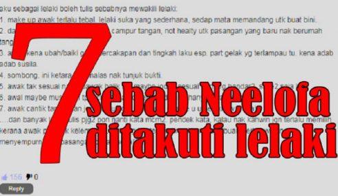 Netizen Beri 7 Sebab Lelaki Enggan Dekati Neelofa!