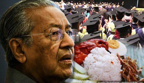 Mahathir Hina Graduan Berniaga Jual Nasi Lemak