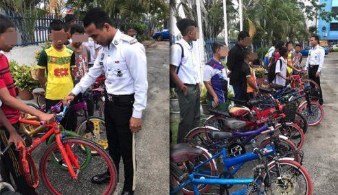 17 Remaja Geng Basikal Lajak Ditahan