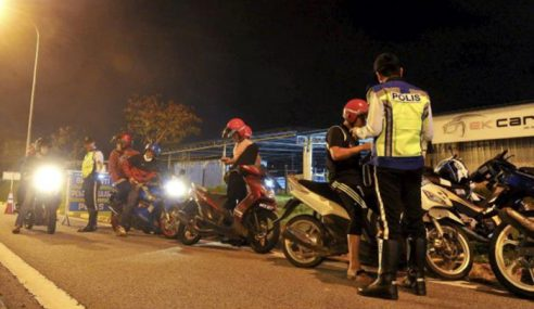 157 Penunggang Motosikal Disaman Di Taiping