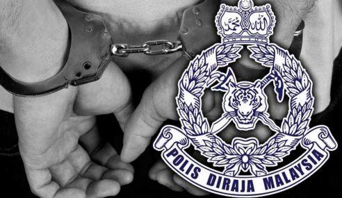 Polis Tahan Penganggur Proses Dadah