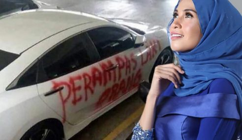 Izreen Nafi Keretanya Dicat 'Perampas Laki Orang'