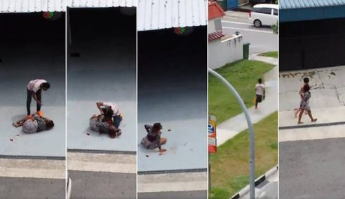 Video: Belasah, Tikam & Ragut Beg Isteri Sendiri