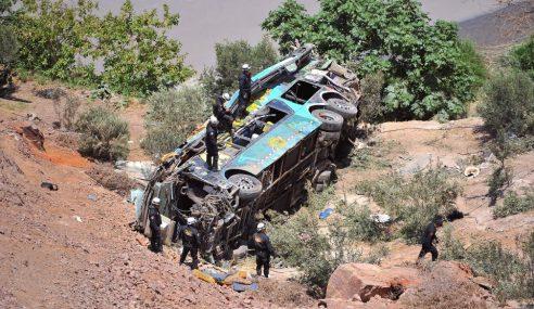 44 Maut Kemalangan Bas 2 Tingkat Di Peru