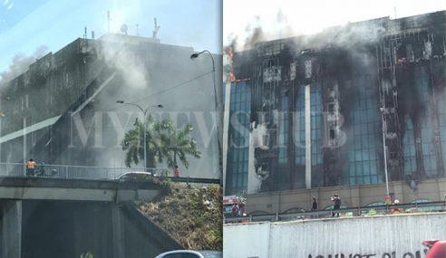 Gempar Bangunan KWSP Petaling Jaya Terbakar