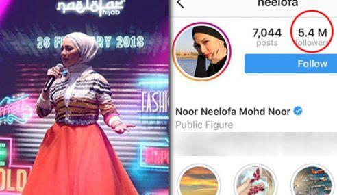 #ZoukLofa: Neelofa Hilang Lebih 100K Followers Di IG