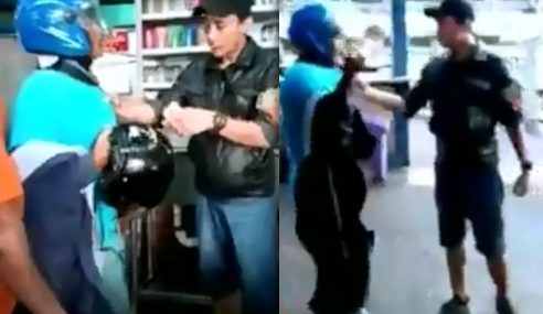 Video: Suami Pukul Bini Guna Helmet Cetus Kemarahan