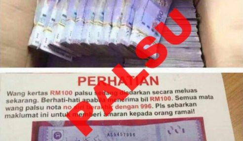 Polis Nafi Wang Palsu RM100 Berlambak Tular Di KL