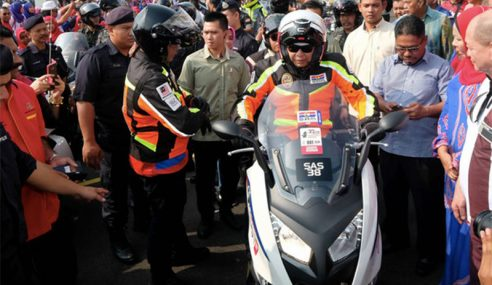 TPM Sertai Konvoi Motosikal PDRM Di Tanjung Karang
