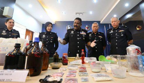 Polis Pulau Pinang Bongkar Makmal Dadah