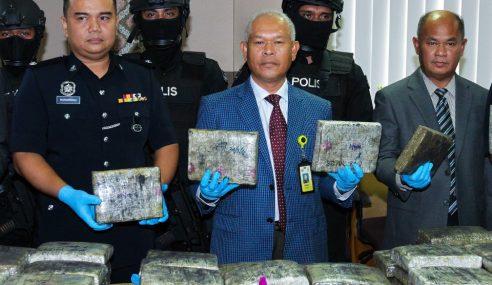 2 Lelaki Ditahan, Ganja Lebih RM500k Dirampas