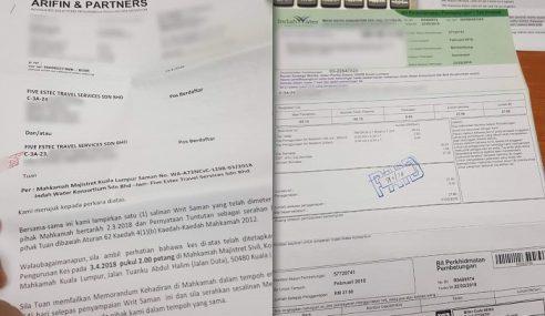 IWK 'Hargai' Pelanggan Hantar Surat Peguam?