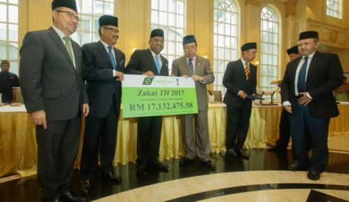TH Serah Zakat RM17.1 Juta Untuk Selangor