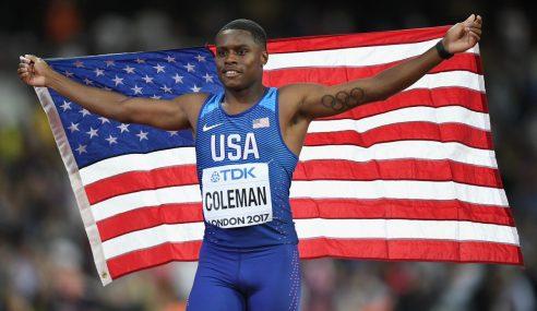 Coleman Bintang Pecut AS Kini Tumpuan Dunia