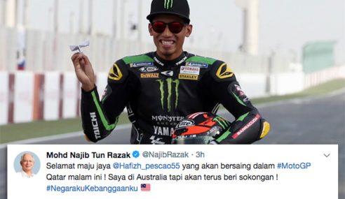 Najib Ucap Selamat Maju Jaya Kepada Hafizh Syahrin