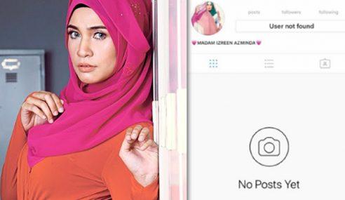 Izreen, Suami Hilang Daripada 'Radar' Instagram