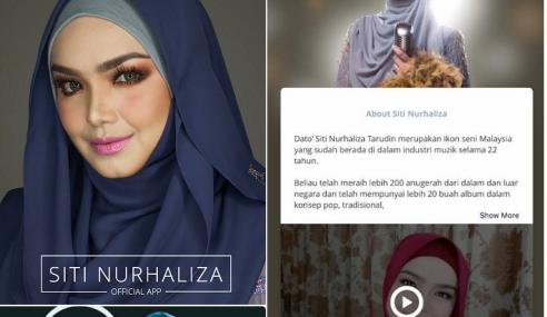 Wow! Siti Nurhaliza Lancar Apps Sendiri