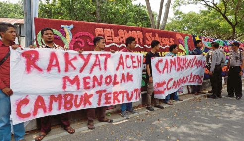 Aceh Henti 'Tayang' Hukuman Sebat Di Khalayak