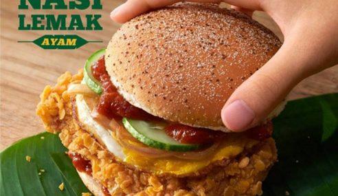 McDonald's Perkenal Menu Burger Nasi Lemak