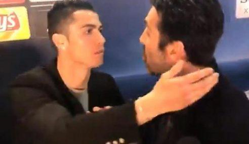 Ronaldo Sengaja 'Ganggu' Temu Bual Buffon