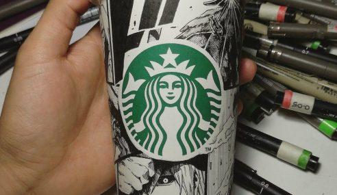 Dapat Pujian Starbucks Lepas Berkarya Atas Cawan